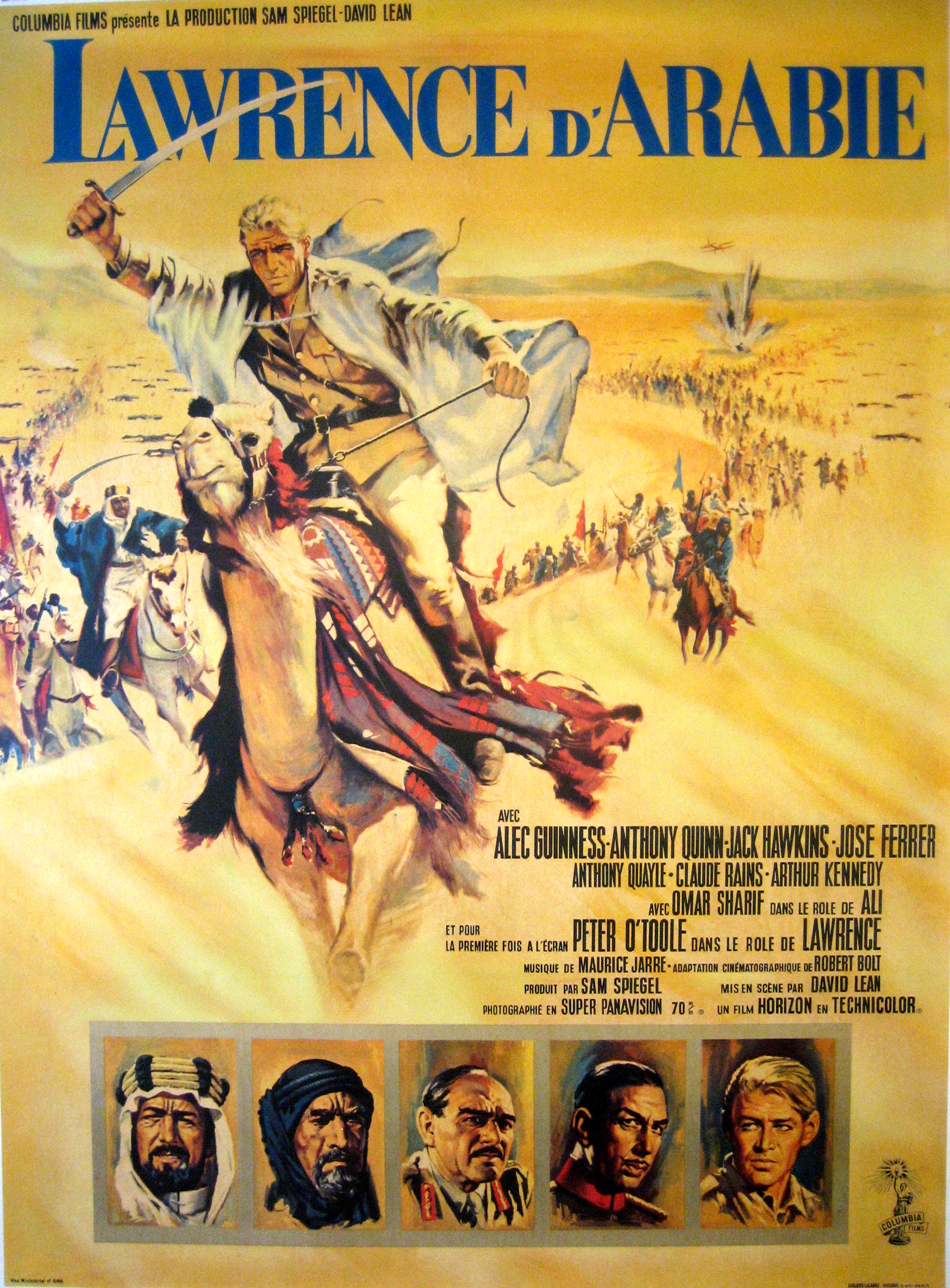 """a movie review of lawrence of arabia The movie, of course, is """"lawrence of arabia,"""" directed by david lean in 1962,  and the encrusted figure is t e lawrence, played by peter."""